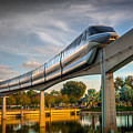 Monorail At Golden Hour by Gareth Burge Photography