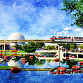 Monorail Red - Coming 'round The Bend by Sandy MacGowan