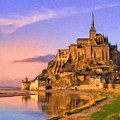 Mont Saint Michel At Sunrise by Dominic Piperata