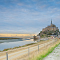 Mont St Michel At Sunset  by Anastasy Yarmolovich