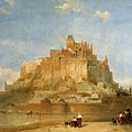 Mont St Michel From The Sands By David Roberts by David Roberts