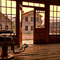 Montana Ghost Town Barber Chair by Adam Jewell