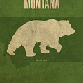 Montana State Facts Minimalist Movie Poster Art by Design Turnpike