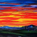 Montana Sunset Colors                     72 by Cheryl Nancy Ann Gordon