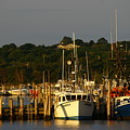 Montauk Harbor At Dawn by Christopher Kirby