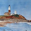 Montauk Lighthouse At Turtle Cove by Sharon Farber