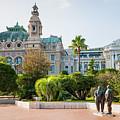 Monte Carlo Casino And Gardens, Monaco by Elena Elisseeva