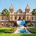Monte Carlo Casino And Sky Mirror In Monaco by Elena Elisseeva