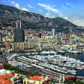 Monte Carlo Harbor View by Anthony Dezenzio