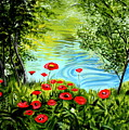 Monte Rio Poppies by Elizabeth Robinette Tyndall