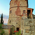 Montefollonico Stone Tower And Fortress by Norma Brandsberg