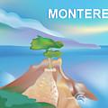 Monterey Bay California Horizontal Scene by Karen Young