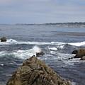 Monterey Beach Waves California Usa by John Shiron
