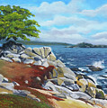 Monterey Coast by Lawrence F Holmes
