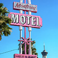 Monterey Motel Sign And The Stratosphere by Aloha Art