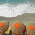 Monterosso Umbrellas by Brad Scott