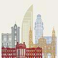 Montevideo Skyline Poster by Pablo Romero