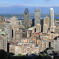 Montreal City Panorama From Mount Royal Quebec Canada by Pierre Leclerc Photography