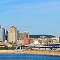 Montreal City Skyline Over River Panorama by Songquan Deng