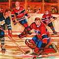 Montreal Forum Hockey Game by Carole Spandau