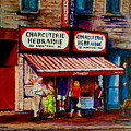 Montreal Paintings  Available For Fundraisers By Streetscene  Artist Carole Spandau  by Carole Spandau