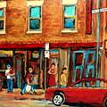 Montreal Streetscenes By Cityscene Expert Painter Carole Spandau Over 500 Prints Available  by Carole Spandau