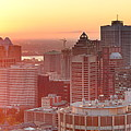 Montreal Sunrise Panorama by Songquan Deng