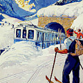 Montreux, Berner Oberland Railway, Switzerland, Winter, Ski, Sport by Long Shot