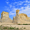 Monument Rocks In Kansas 2 by Catherine Sherman