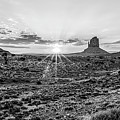 Monument Valley Black And White Sunrise by John McGraw