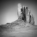 Monument Valley Camel Butte Black And White by Melanie Viola