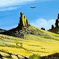 Monument Valley Eagle Rock by Bob Patterson