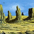 Monument Valley Spider Mesa by Bob Patterson