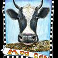 Moo Cow In Black by Retta Stephenson