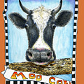 Moo Cow In Orange by Retta Stephenson