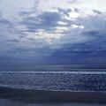 Moody Blue Beach by D Hackett