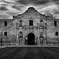 Moody Morning At The Alamo Bw by Jemmy Archer