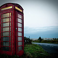 Moody Red Telephone Box by Helen Northcott