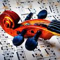 Moody Violin Scroll On Sheet Music by Garry Gay