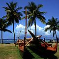 Moolele Canoe At Hui O Waa Kaulua Lahaina by Sharon Mau