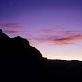 Moon And Venus Over The Sierra Nevada by Brian Lockett