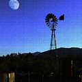 Moon And Windmill by Tom Janca