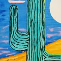 Moon Light Cactus L by J R Seymour