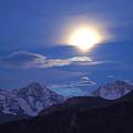 Moon Light Over The Alps by Farah
