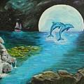 Moon Light Swim  by David Bigelow