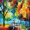 Moon Light Through The Rain by Leonid Afremov