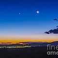 Moon, Mercury & Venus Conjunction by Alan Dyer