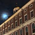 Moon Over Faneuil Hall by Joann Vitali