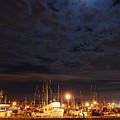 Moon Over Fishermans Terminal by Alasdair Turner
