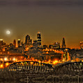 Moon Over Kansas City Mo by Don Wolf